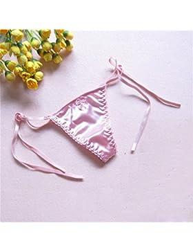 Ropa de la mujer, señoras t-Pantalón mujer Thong, 4 colores,Rosa,un tamaño