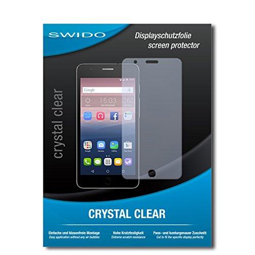 SWIDO Bildschirmschutz für Alcatel One Touch Pop Up [4 Stück] Kristall-Klar, Hoher Härtegrad, Schutz vor Öl, Staub & Kratzer/Schutzfolie, Bildschirmschutzfolie, Panzerglas Folie