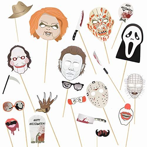 Kit de 22 piezas de accesorios para fotomatón de Halloween,...