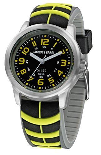 jacques-farel-montre-de-jeunes-neon-noir-jaune-5-bars-sbr-505