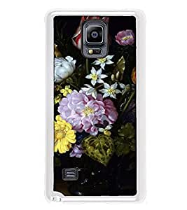 Fuson Designer Back Case Cover for Samsung Galaxy Note 4 :: Samsung Galaxy Note 4 N910G :: Samsung Galaxy Note 4 N910F N910K/N910L/N910S N910C N910Fd N910Fq N910H N910G N910U N910W8 (variety of flowers jar bee housebee)