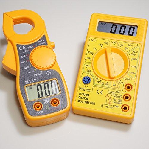elink Value Pack 1+ 1= 400A Mini digitale Strommesszange + Pocket Digital Multimeter, Ohm AC DC Volt Amps Tester, beste Wahl für Heimwerker (Tester Beste)