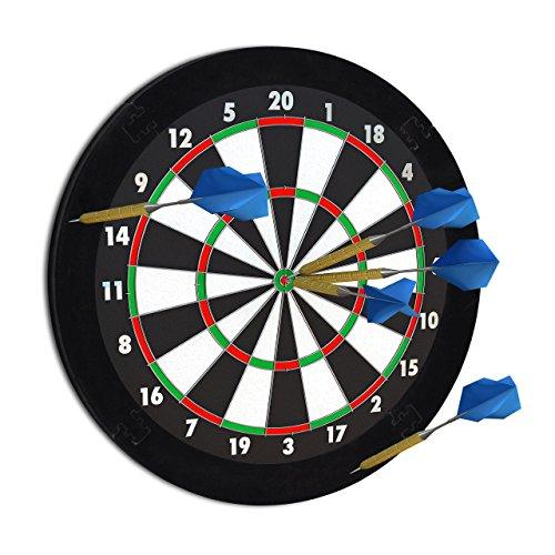 """Relaxdays Dart Auffangring """"R5"""", Catchring Dartscheibe, 4-teilig, Surround f. Dartboards, EVA, 45 cm, schwarz"""