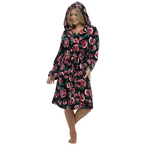 Tom Franks - Robe de chambre - Femme motif floral noir