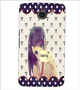 PrintDhaba I Love You Girl D-1104 Back Case Cover for MOTOROLA GOOGLE NEXUS 6 (Multi-Coloured)