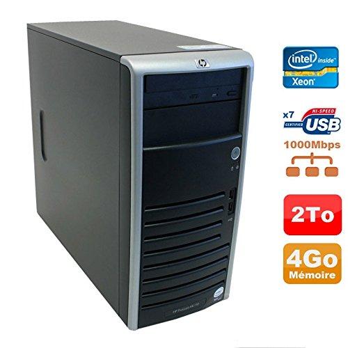 Server HP Proliant ML110 G5 Xeon x3330 2,66 GHz 4GB Scheibe 2000Go sata