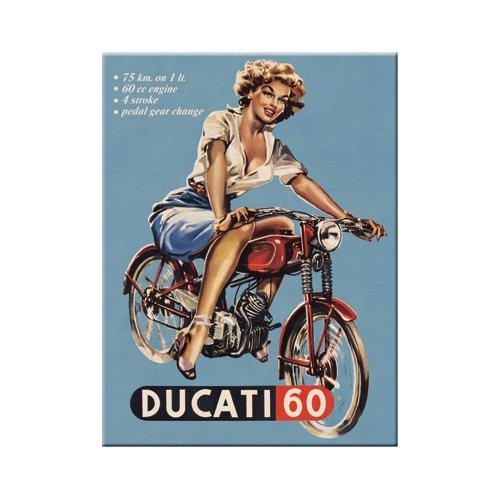 Nostalgic-Art 14118 Traditionsmarken - Ducati Pin up, Magnet 8x6 cm -