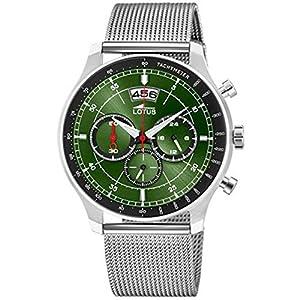 Lotus Reloj Cronógrafo para Hombre de Cuarzo con Correa en Acero Inoxidable 10138/2