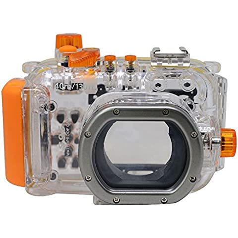 Mcoplus 40m/130ft WP-DC38Cámara subacuática impermeable Vivienda Buceo caso para Canon PowerShot S95