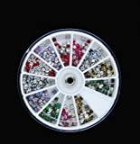 Ecbasket New Trendy 600 Pcs Leopard Print Metal Studs 3d Nail Art Diy Decorations Wheels Christmas Nail Art Gift