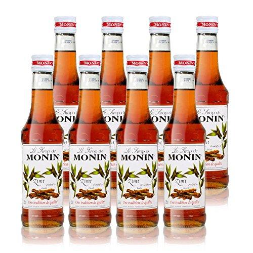 8x Monin Zimt Sirup, 250 ml Flasche