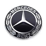 AUTOTUO Emblema Cap/ó Estrella Logo Capucha Insignia para Clase C//E//S//W