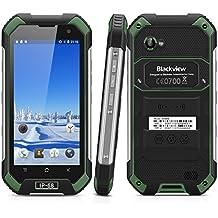 "Blackview BV6000 - 32GB Smartphone libre Impermeable IP68 (Android 6, 4G Lte, Pantalla 4.7"", Cámara 13.0 Mp, OctaCore 2.0GHz, NFC, Dual SIM, 3GB RAM, Gorilla Glass 3), Negro y Verde"