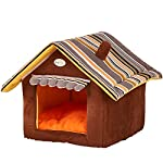 Leosi House Shape Sleeping Kennel Dog House Pet Bed Cozy Cat Cave Puppy Bed Shelter House