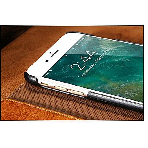 Phone Case & Hülle für iPhone 6 & 6 s PU Crazy Horse Textur Magnetische abnehmbare horizontale Flip Ledertasche mit Kartensteckplätzen und Brieftasche ( Color : Coffee ) Grey