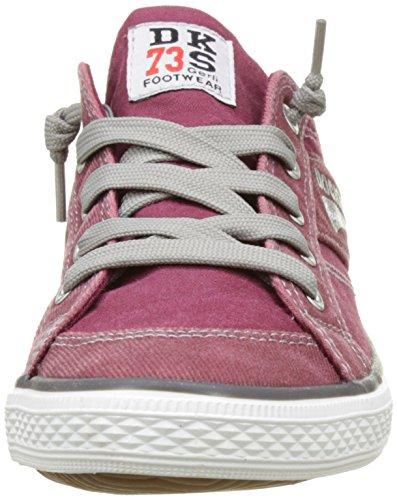 Dockers by Gerli 36vc606-790720, Baskets Basses Mixte Enfant Rouge (Dunkelrot)
