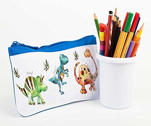 garçons étui à crayons, crayon cas, arrière à l'école, Trousse scolaire à crayons, Dinosaure