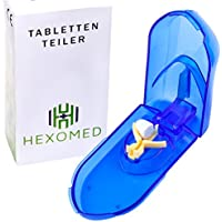 [Tablettenteiler] Verstellbarer Pillenschneider • für große und kleine Tabletten | durchsichtig | mit Aufbewahrung preisvergleich bei billige-tabletten.eu
