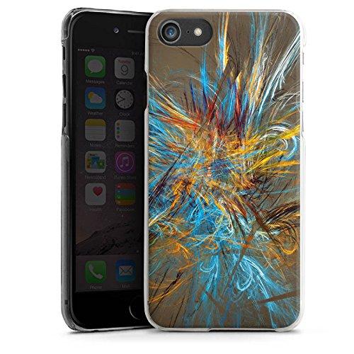 Apple iPhone X Silikon Hülle Case Schutzhülle Muster Abstrakt Vogelfeder Hard Case transparent