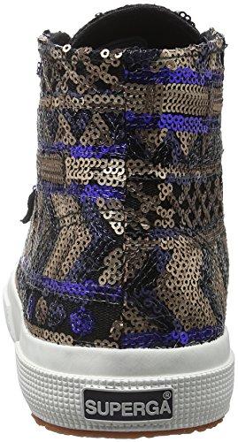 Superga2795-ethnicpaiw - Baskets Basses Athlétiques Unisexes - Adulte Mehrfarbig (902 Écru Marine)
