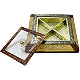 LONEKART Wooden Square Dry FRUITE Box With Transparent LID
