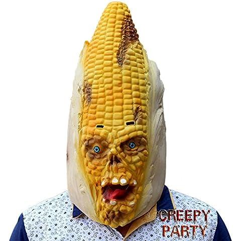 CreepyParty deluxe novit¨¤ del costume del partito di Halloween del lattice verdure maschera testa di mais - Grande Testa Di Cavallo