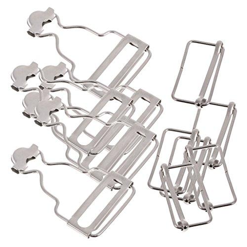 Sharplace Metall Latzhosen Schnalle Trägerschnallen für Jeans Träger - Silber, 3,2 cm -