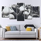 CXDM Druck auf Leinwand Arnold Schwarzenegger Bodybuilding 5 Stücke Wandmalerei Bild Giclee Artwork Für Zuhause Modern Dekoration