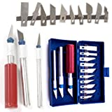 #7: uptodateproducts Knife Set with Blade Hobby Arts Crafts Cutting Tooln (13Pcs)