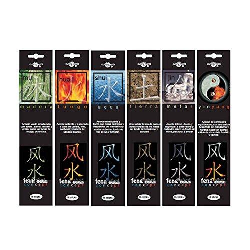Emim - Pack 6 paquetes incienso aromático Feng Shui