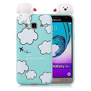Aeeque Super Cute Cartoon Soft Silicone TPU Soft Case for Samsung Galaxy/J32016J310J3(5.0Inches) Cover Anti-shock Anti-scratch Protective Case