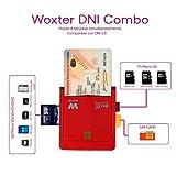 Woxter Lector Dni Combo - Lector DNI electrónico, compatible con las tarjetas Smart Cards o...