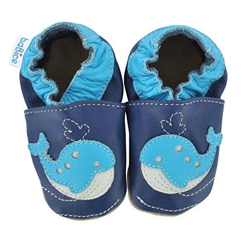 Krabbelschuhe Wal von baBice, Schuhgröße:20/21 (12-18 Monate);Uni Schuhe:türkis blau