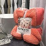 Una EIN super weiches Dickes und weiches Tuch dick, Doppeldecke, Bettwäsche Größe Doppelbett, Pink (Pinkish), Twin:78 * 90in