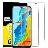 NEW'C Lot de 2, Verre Trempé pour Huawei P30 Lite, Nova 4e, Film Protection écran - Anti Rayures - sans Bulles d'air -Ultra Résistant (0,33mm HD Ultra Transparent) Dureté 9H Glass