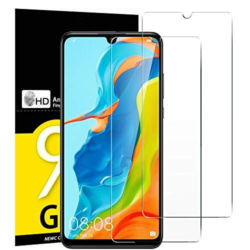NEW'C Verre Trempé pour Huawei P30 Lite/Nova 4e, [Pack de 2] Film Protection écran - Anti Rayures - sans Bulles d'air -Ultra Résistant (0,33mm HD Ultra Transparent) Dureté 9H Glass