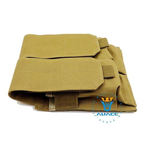Multifunzione sopravvivenza Gear Pouch Tattico Molle Pouch Duplex Magazine Pouch, Velcro e fibbie a sgancio rapido militare tattico borsa per attrezzi, OD KH