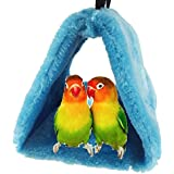 Hiver chaud Bird Nest Maison Refuge pour Parrot perruche perruche calopsitte Amazones cacatoès canari inséparables Finch Cage jouet (couleur aléatoire)