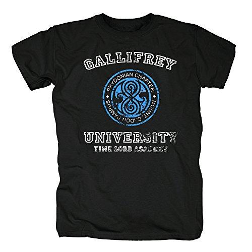 TSP Gallifrey University T-Shirt Herren XXXL Schwarz (Billig University Halloween-kostüme)