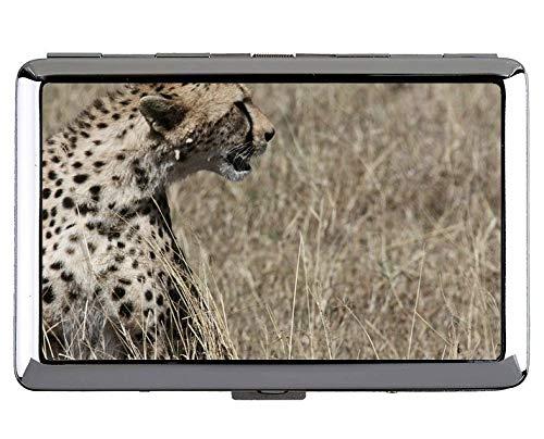 tah Cat Family Leopard Visitenkartenetui Edelstahl (Silber) ()