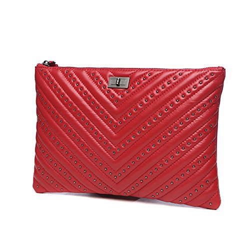 nuova borsa da donna di grande capacità busta borsa 30 x 20 cm,gules gules