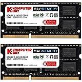 Komputerbay 16GB Dual Channel Kit 2x 8GB 204pin DDR3-1066 SO-DIMM 1066 PC3-8500 (1066, CL7) für Apple