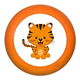 """Schubladengriff """"Tiger"""" orange Holz Buche Kinder Kinderzimmer 1 Stück wilde"""