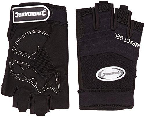 Silverline 172572 Gel Comfort Fingerless Gloves One Size