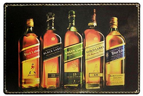 johnnie-walker-whiskey-metal-tin-sign-retro-vintage-tin-sign-12-x-8