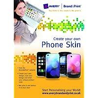 Avery marca y impresión teléfono piel para iPhone y BlackBerry