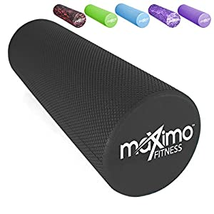 Maximo Fitness Faszienrolle, Schaumstoffrolle – Leichtes Gewicht, 45cm x 15 cm (18″ x 6″)