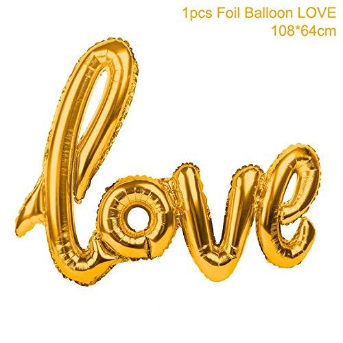 (Horrenz – Rosegold Love Letter Folienballons Champagner Love Ballon Hochzeit Party Dekoration Hochzeit Gold Love)