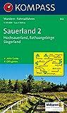 Sauerland 2 - Hochsauerland - Rothaargebirge - Siegerland: Wanderkarte mit Aktiv Guide und Radrouten. GPS-genau. 1:50000 (KOMPASS-Wanderkarten, Band 842)