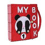 Per Libros Blandos de Material Montessori Tableros de Aprendizaje de Vestir y Conocer Objetos Libros de Bricolaje par aBebés de 1-3 Años